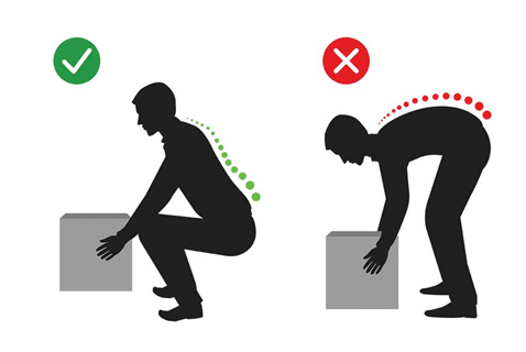 Right way to lift heavy objects